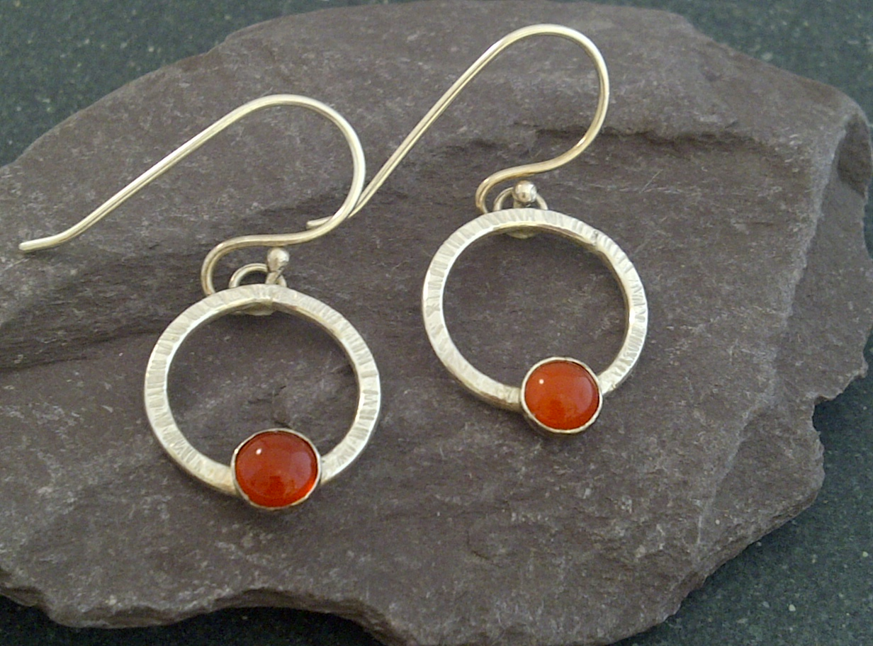 carnelian-loop-earrings