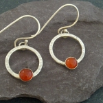 carnelian-loop-earrings