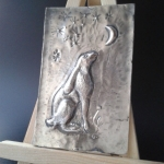 Moon Gazing Repousse Hare