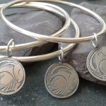 Snoozy Silver Hare Bangles