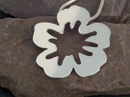 silver blossom pendant