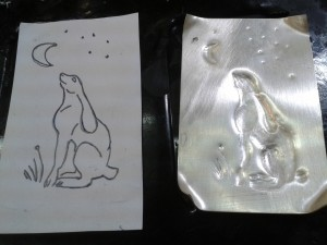 Work in progress - silver moongazing hare