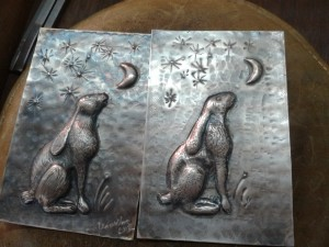 My hare, and Il Maestro's hare - beautiful!
