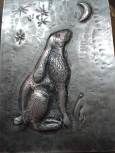 My handmade silver moongazing hare!