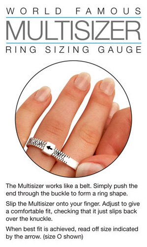 UK ring sizer