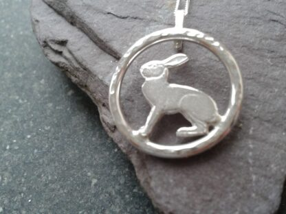 Handmade Silver Hare Pendant