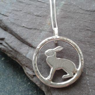 Silver Hare Pendant