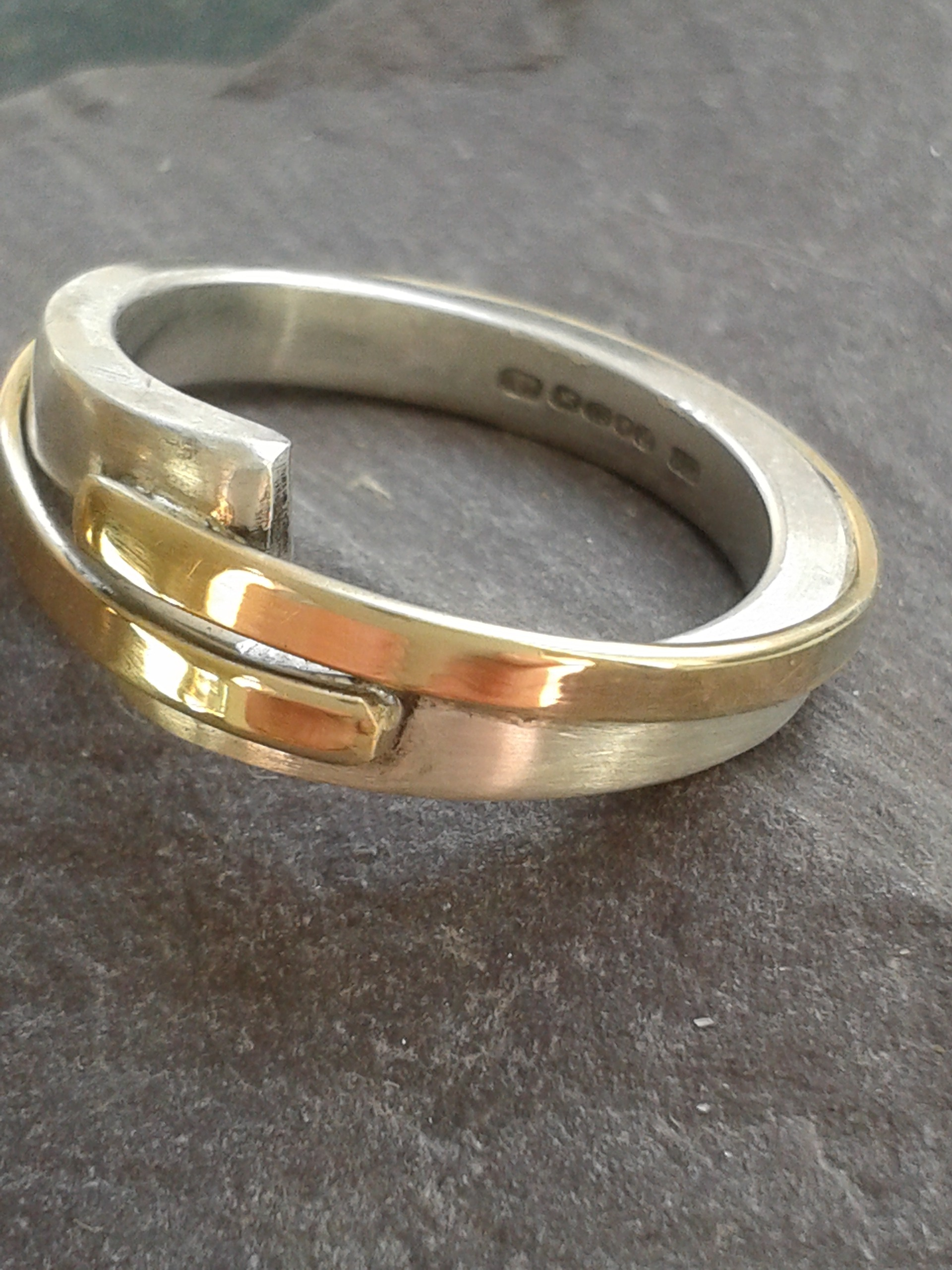 Good and silver designer ring