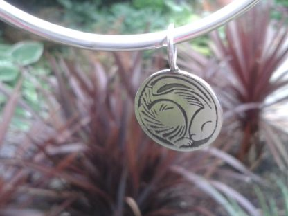 Snoozy Silver Hare Bangle