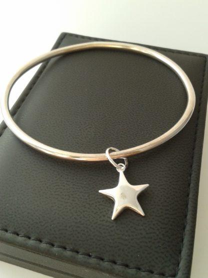 You're a star silver bangle