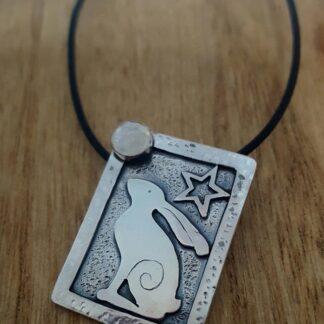 Silver star gazey pendant