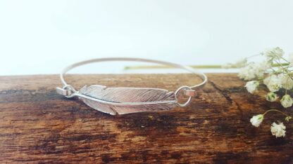Silver feather jewellery