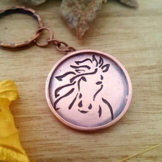 Copper Horse Keyring