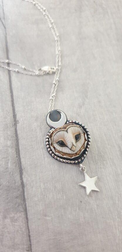 """Chouette"" Silver Owl Pendant"