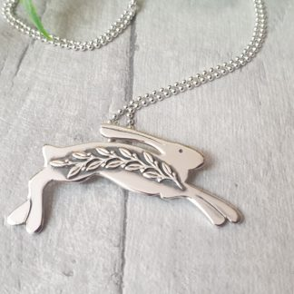 Spring Hare Silver Pendant