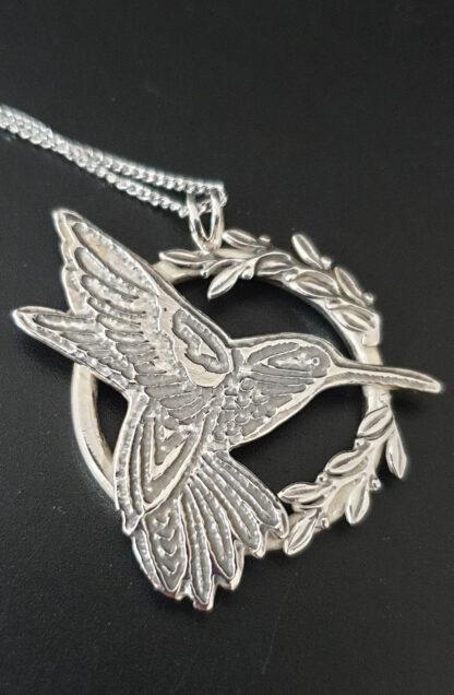 Spring Hummingbird Pendant