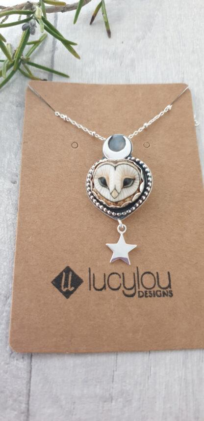 Chouette-Silver-Owl-Pendant-scale