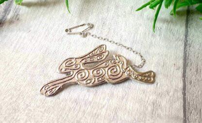 Silver Hare Brooch - Andromeda