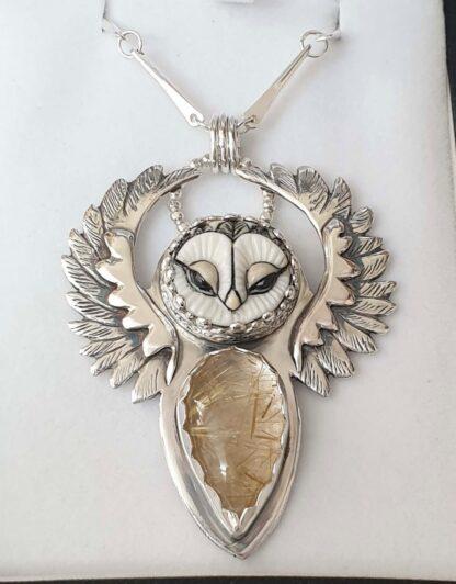 Blodeuwedd Owl Pendant