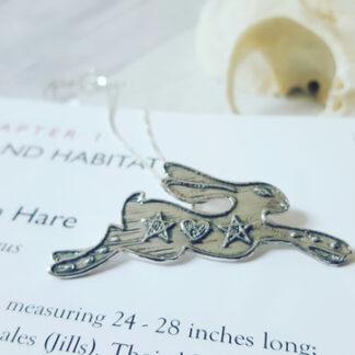 Magick Silver hare pendant