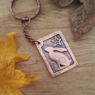 Star Gazey Hare Copper Keyring