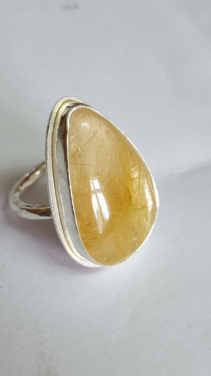 Golden Rutile Quartz Ring