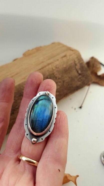 Gothic Labradorite Ring