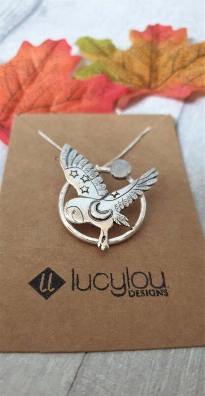Ceridwen Silver Owl Pendant