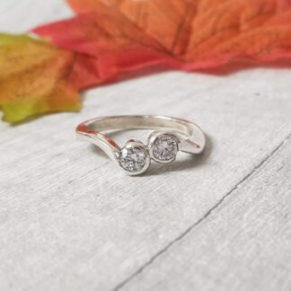Double Bezel Set Ring