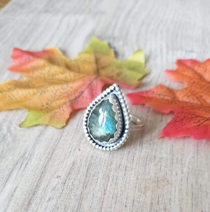 Green Labradorite Ring