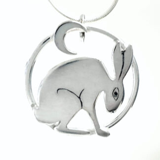 Pensive HAre Pendant Moon Version