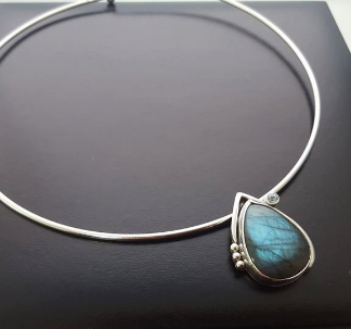 Labradorite and Aquamarine Choker